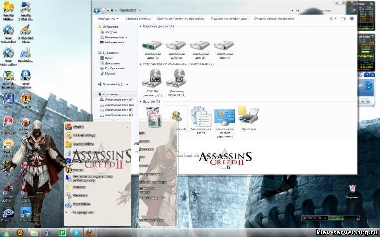 Скачать тему оформления assassins creed для windows 7. skachat-temu-oformle